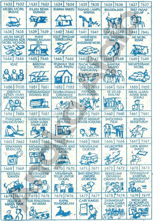 Daftar Buku Mimpi 4D dengan Nomor Togel Abjad 1632 – 1679 dan 7632 – 7679