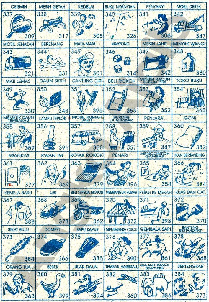 Daftar Buku Mimpi 3D dengan Nomor Togel Abjad 337 – 384